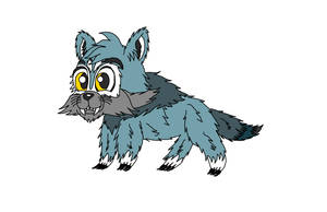 Chibi Blue Grey Wolf by MarioLuigi721