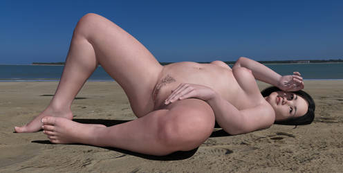 Nude Girl on the Beach by DoreenG