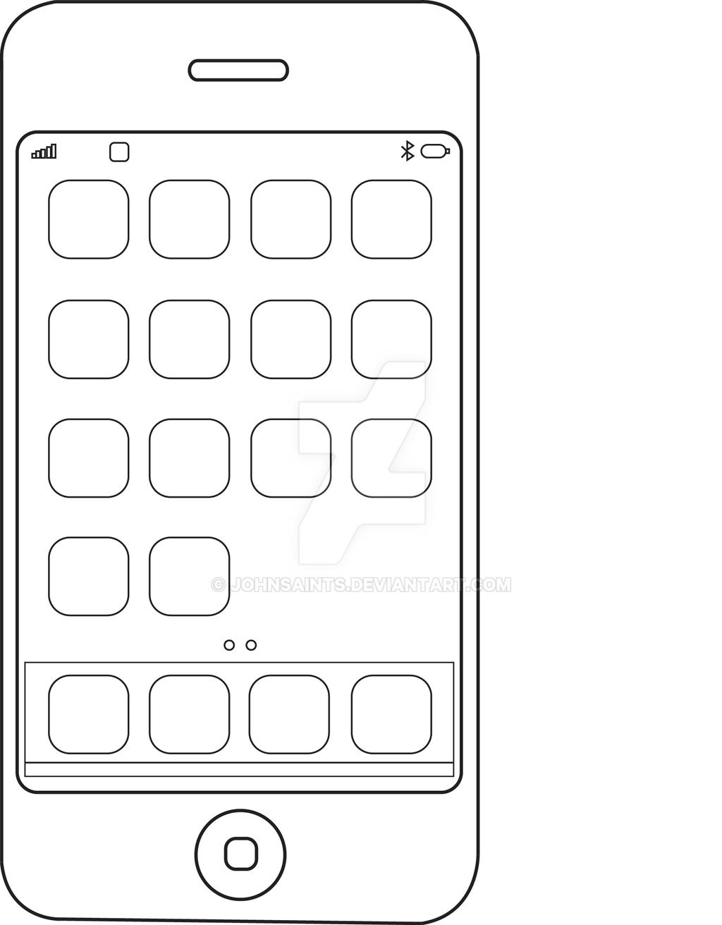 Vector Drawing Lines App : Iphone vector by johnsaints on deviantart