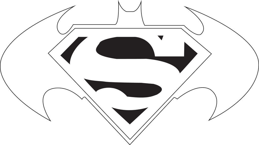 Superman vs batman drawing coloring coloring pages for Coloring pages of superman logo