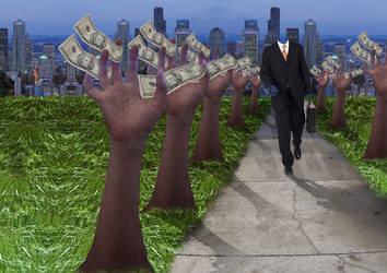 A Walk Home From Wall Street by kaleidoscopeeyes