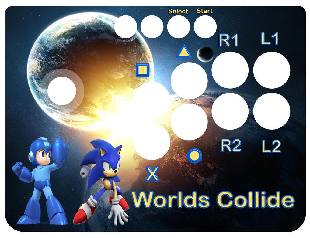 Mayflash arcade stick template - Worlds Collide 2 by Freshbreath3