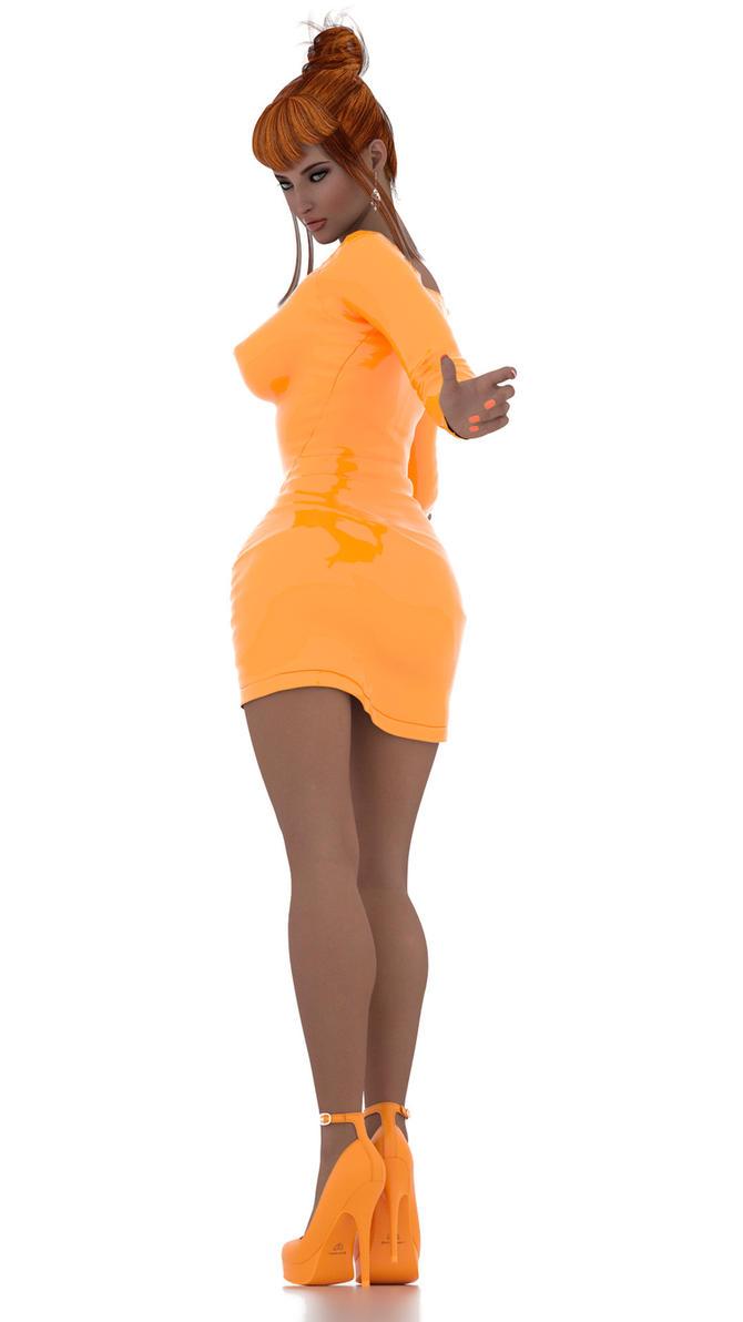 Orange Dress by soup-sammich