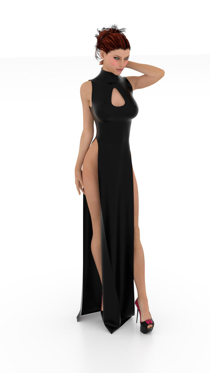 Nikki G3F Slit Dress by soup-sammich