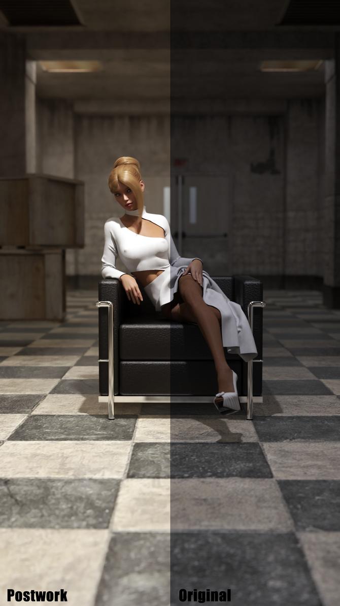 Glamour (Post Work vs Original Comparison) by soup-sammich