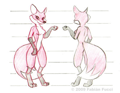 Anthro fox model sheet by fabianfucci