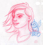 Girl and Little Blue Thing