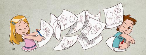 A flurry of drawings by fabianfucci
