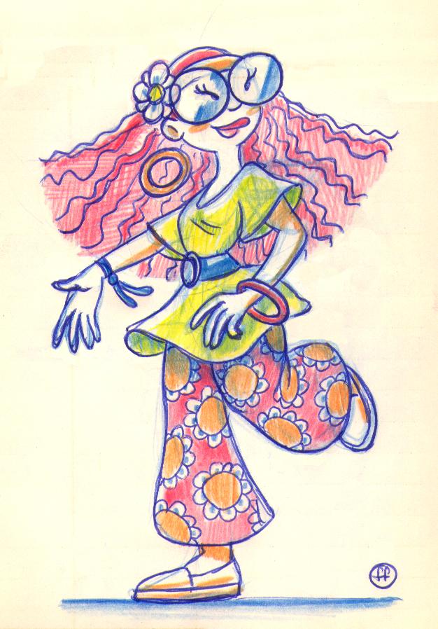 Happy, hoppy, hippie gal by fabianfucci