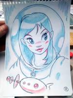 Space chica by fabianfucci