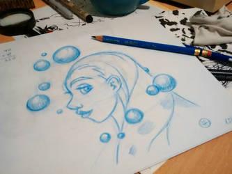Belle bleu by fabianfucci