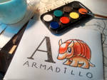 ABC with watercolors