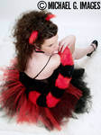 Red and Black Gothic Kitty Tail