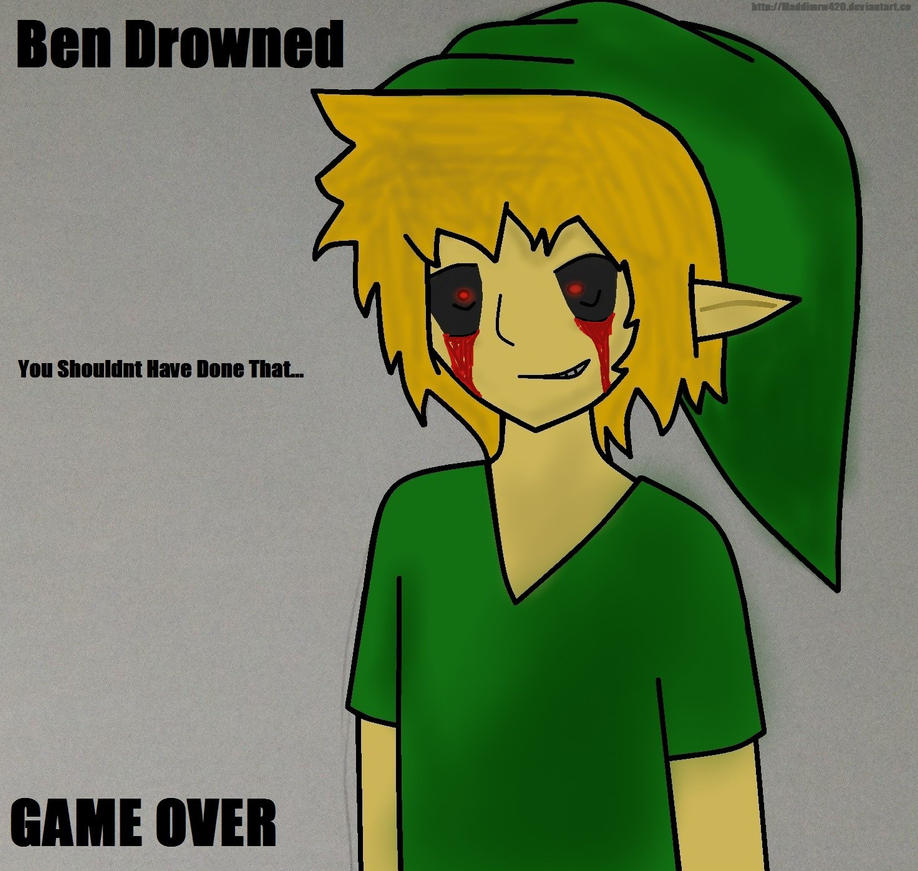 Game over ben drowned by maddimrw420 on deviantart