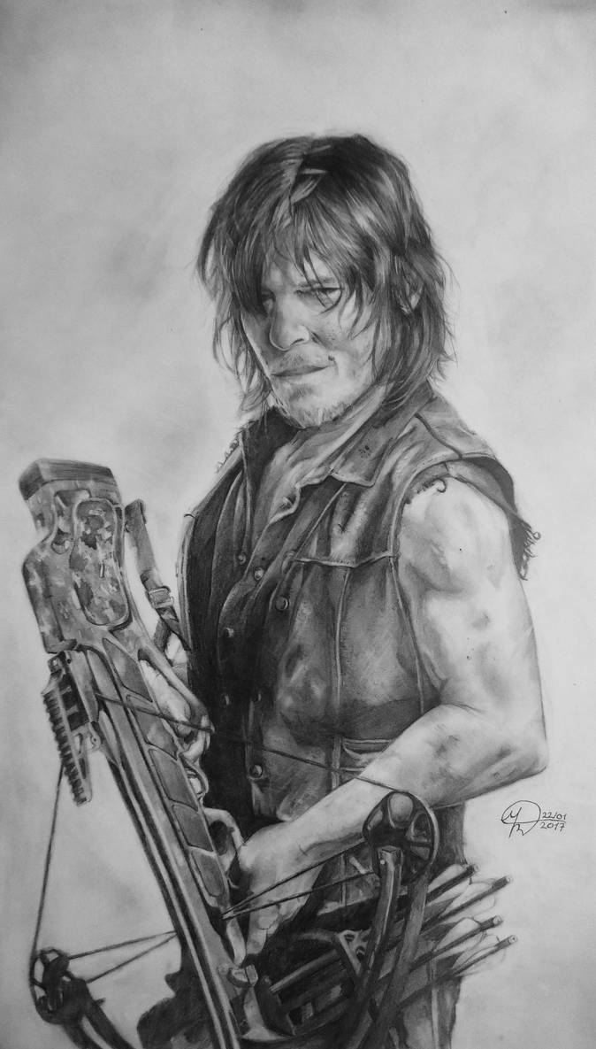 Daryl Dixon The Walking Dead By Micheldesenhista On Deviantart