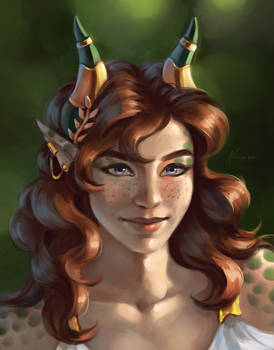 [Commission] Half-dragon OC