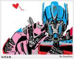 Graffiti_Optimus and Elita-1