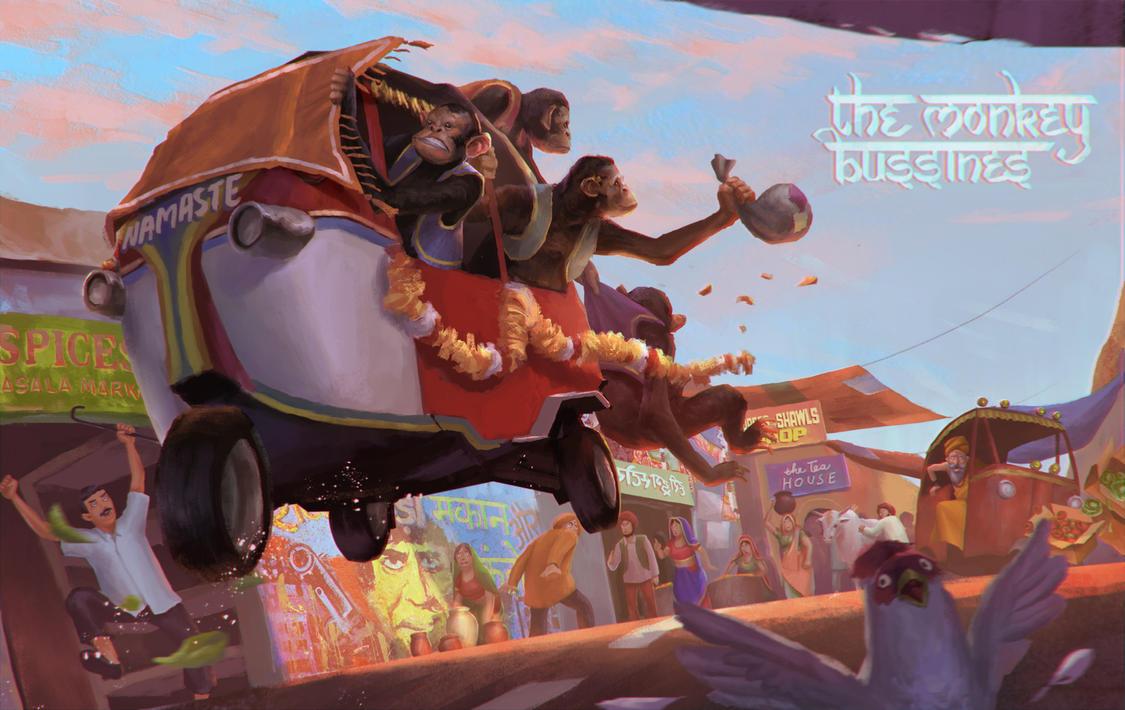 the monkey bussines by pandumahardika