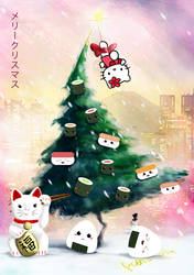 The Sushi (X-Mas)Tree by KizUna-Cat