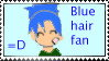 Blue hair fan stamp by oozsinfered