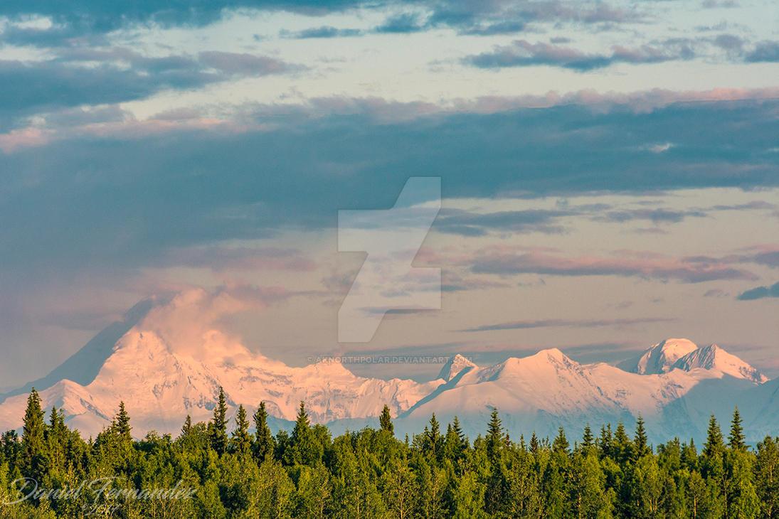 alaska range 11 30pm midnight sunset by aknorthpolar on deviantart