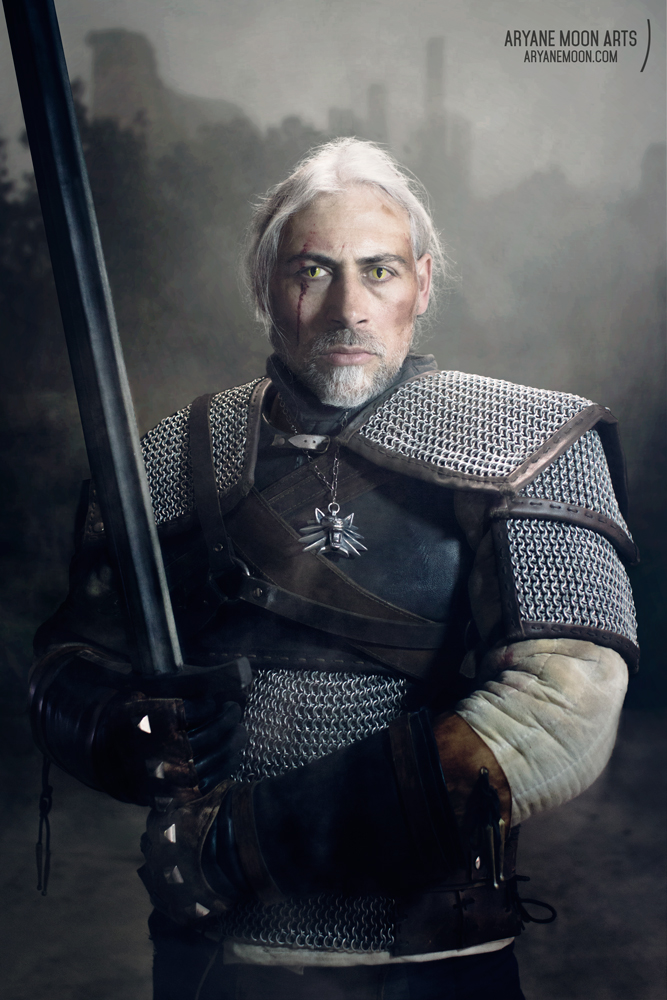 Geralt of Rivia (The Witcher) Cosplay by aryane-moon