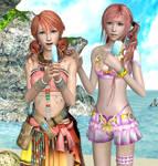 Ice Cream on the Beach by Serah-Lightning