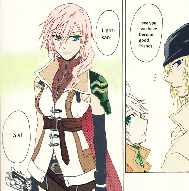 Lightning Hope And Snow Coloring By Serah On