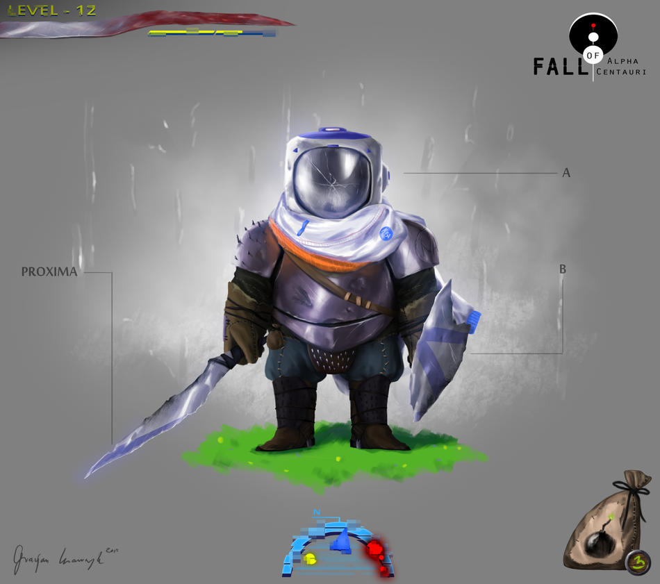 FALL OF ALPHA CENTAURI main character 2# interface by keyholestyle