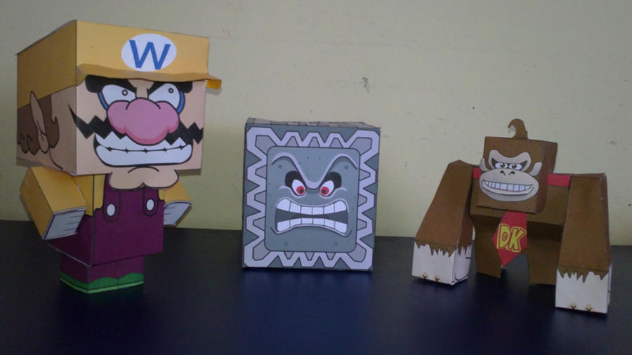 Mario papercrafts by E-419