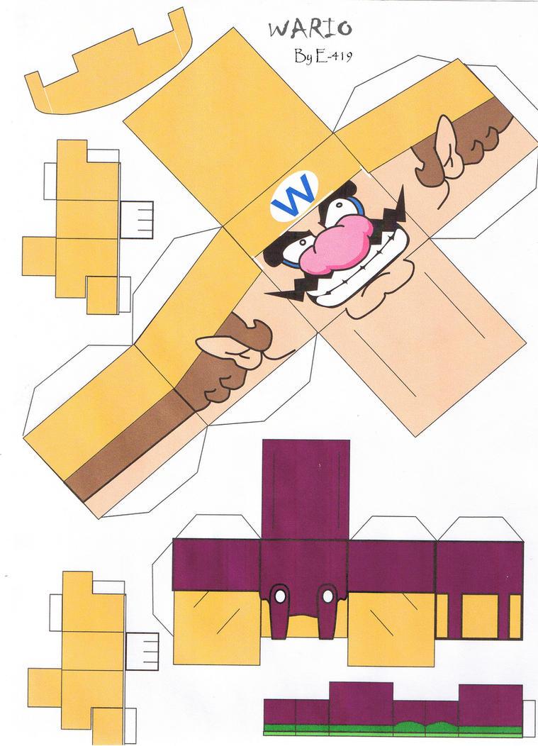 Wario cubeecraft by E-419