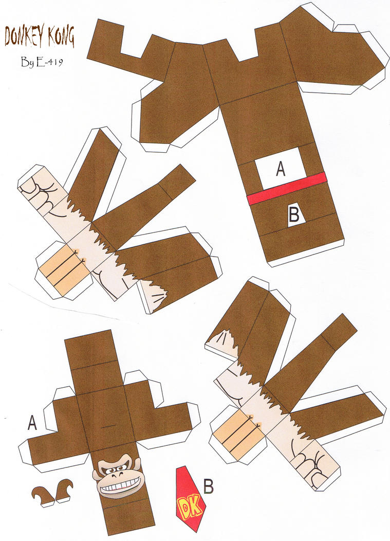 Donkey kong papercraft by E-419