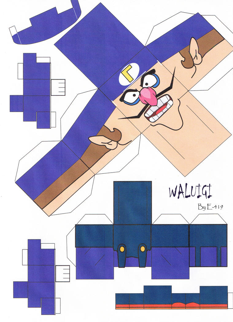 Waluigi Cubeecraft by E-419