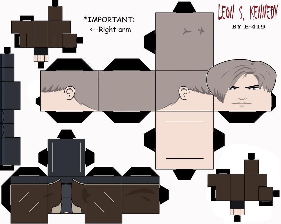 Leon Scott Kennedy Cubeecraft by E-419