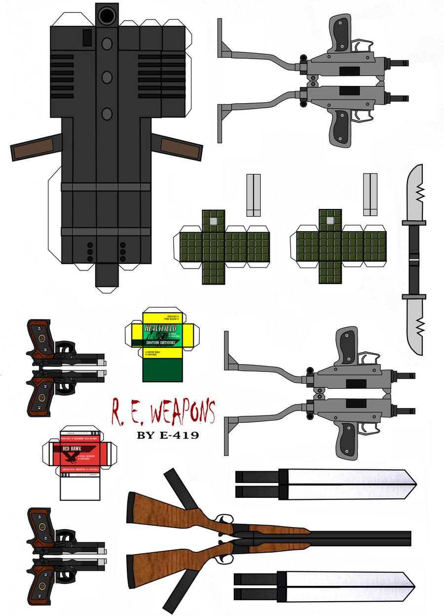 Resident Evil Weapons by E-419