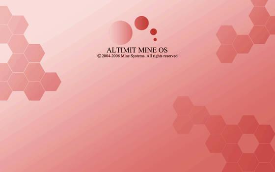 Red ALTIMIT Mine OS Wallpaper