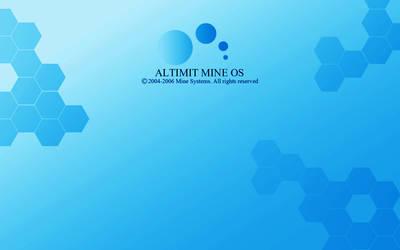 Blue ALTIMIT Mine OS Wallpaper