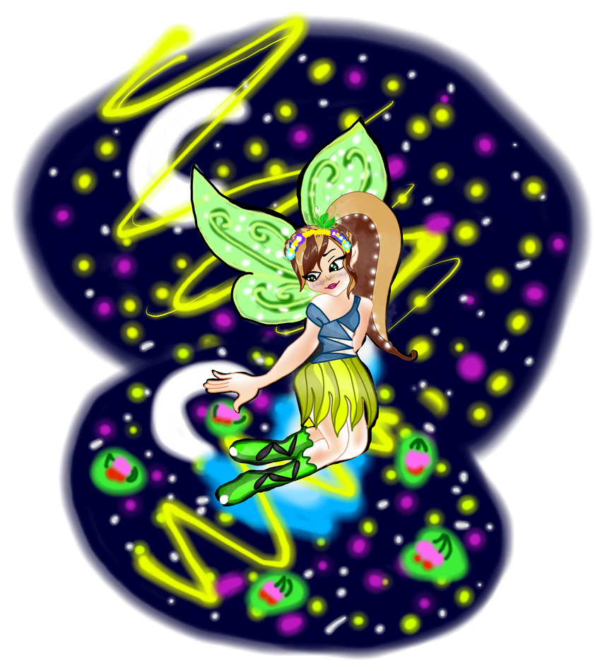 Bella The Fairy Of The Moon Png by winxsome