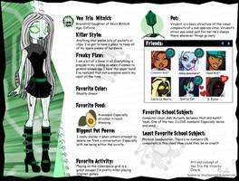 Monster High OC: Vee Iris Mitnick by Oracle01