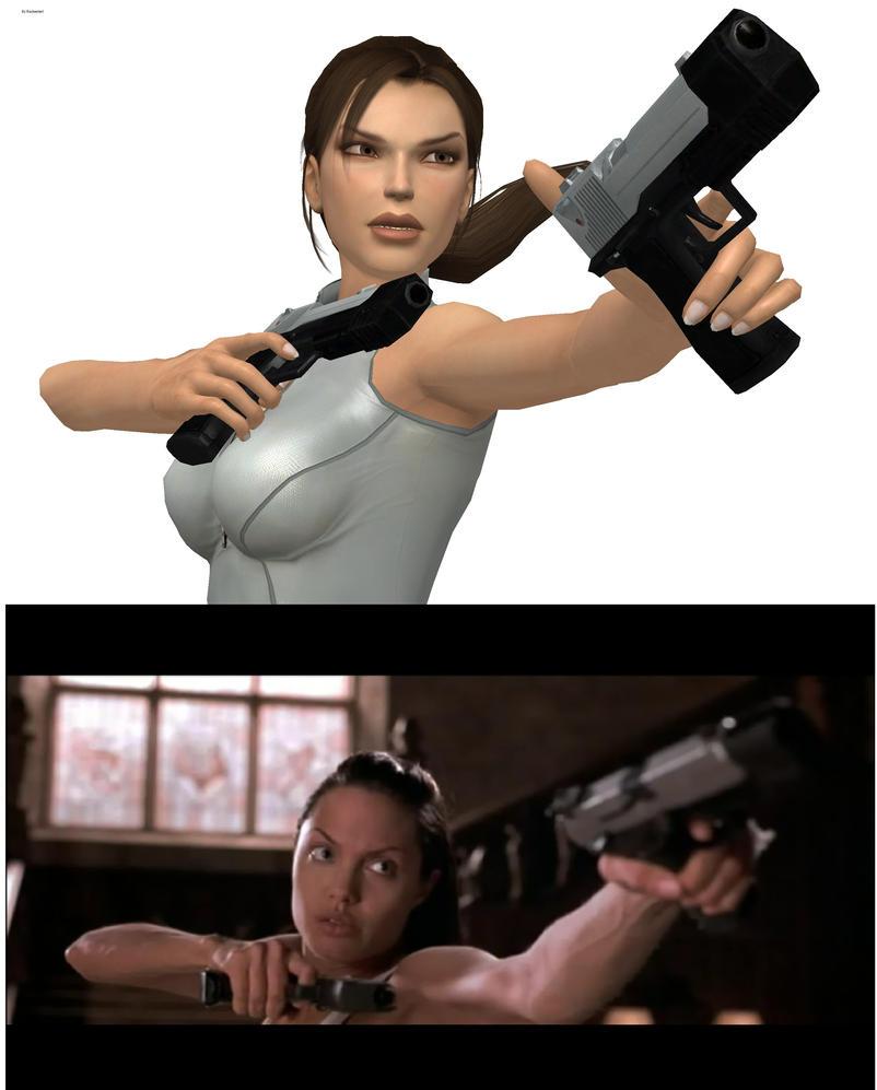 Lara Croft Movie Pose by Rockeeterl