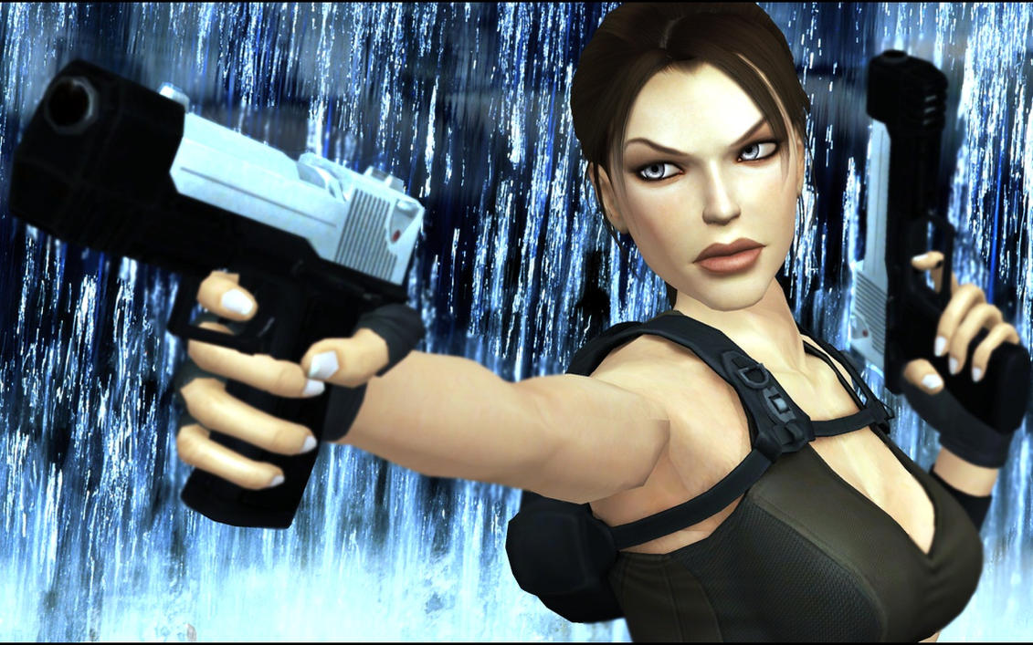 Lara Croft Raining by Rockeeterl