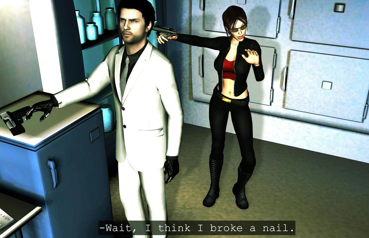 Wait, I think I broke my nail! by Rockeeterl