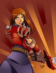 Red girl by YeyeiAlba