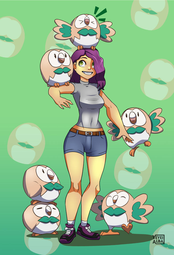 Too many Rowlet by YeyeiAlba