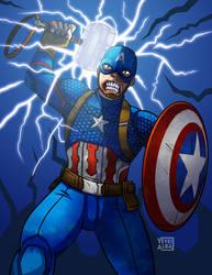 Worthy Captain America by YeyeiAlba