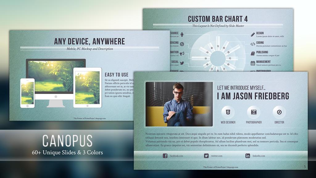 canopus - free powerpoint templatejunakizaki on deviantart, Powerpoint templates