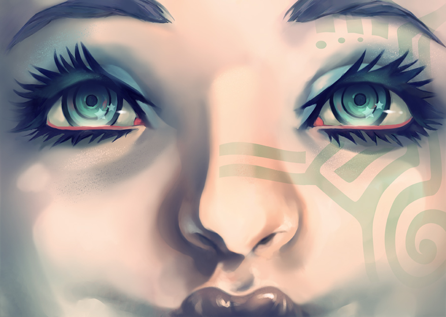 Turquoise Girl by UNDERANANGEL