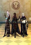 SWTOR Smuggler trio Catri Naiya and Dalla