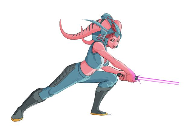 SWTOR Pink Twi'lek Jedi by Aliens-of-Star-Wars