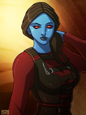 Star Wars Swtor Chiss Lady by suppa-rider by Aliens-of-Star-Wars